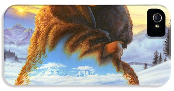 Puzzles iPhone 5 Cases - Cloak of Visions Buffalo iPhone 5 Case by Andrew Farley