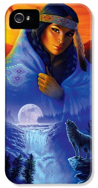 Eagle iPhone 5 Cases - Cloak of Visions Portrait iPhone 5 Case by Andrew Farley