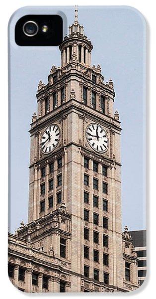 Michgan Avenue iPhone 5 Cases - Clock Tower iPhone 5 Case by Arlene Carmel