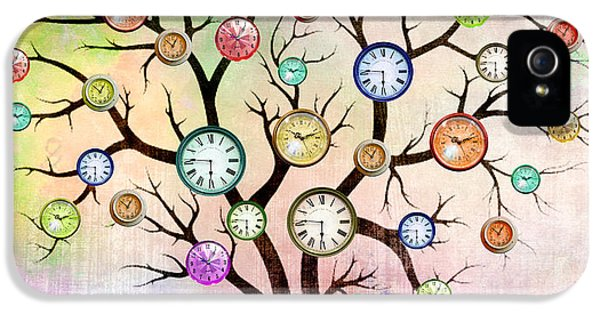 Orsillo iPhone 5 Cases - Clock Tree  iPhone 5 Case by Mark Ashkenazi