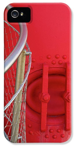 Cloe-up Of Foghorn And Boiler IPhone 5 / 5s Case by Martin Zwick