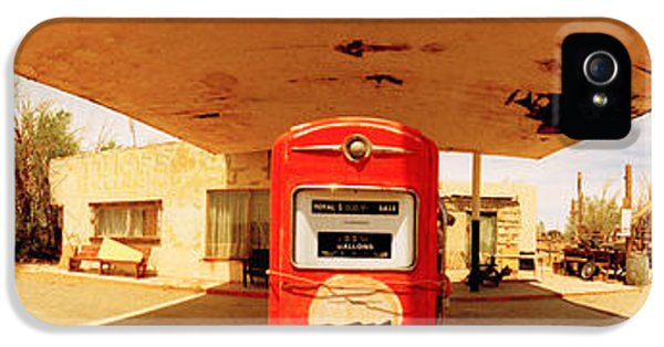 Fuel And Power Generation iPhone 5 Cases - Closed Gas Station, Route 66, Usa iPhone 5 Case by Panoramic Images