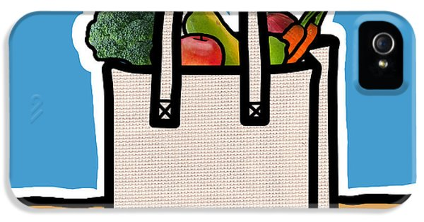 Environment Concept Art iPhone 5 Cases - Cloth Shopping Bag With Vegetables iPhone 5 Case by Yuriko Zakimi
