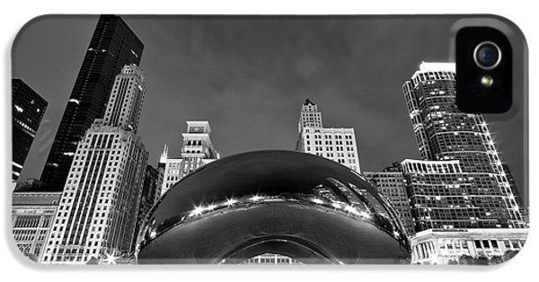B iPhone 5 Cases - Cloud Gate and Skyline iPhone 5 Case by Adam Romanowicz