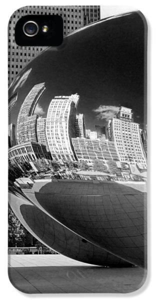 Cloud Gate iPhone 5 Cases - Cloud Gate Bean Black and White iPhone 5 Case by Christopher Arndt