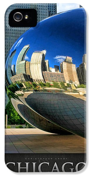 Cloud Gate iPhone 5 Cases - Cloud Gate Bean Poster iPhone 5 Case by Christopher Arndt