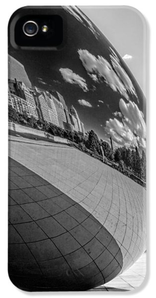 Cloud Gate iPhone 5 Cases - Cloud Gate Teardrop Black and White iPhone 5 Case by Christopher Arndt