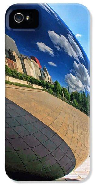 Cloud Gate iPhone 5 Cases - Cloud Gate Teardrop iPhone 5 Case by Christopher Arndt