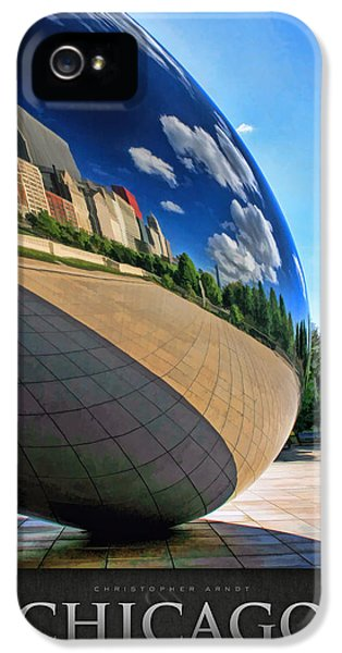 Cloud Gate iPhone 5 Cases - Cloud Gate Teardrop Poster iPhone 5 Case by Christopher Arndt