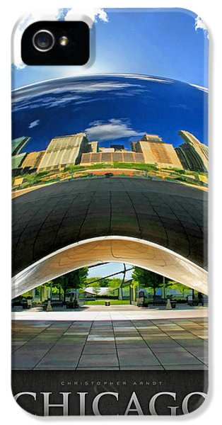 Cloud Gate iPhone 5 Cases - Cloud Gate Under the Bean Poster iPhone 5 Case by Christopher Arndt