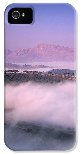 Andalusia iPhone 5 Cases - Clouds Over A Valley, Guadalevin iPhone 5 Case by Panoramic Images