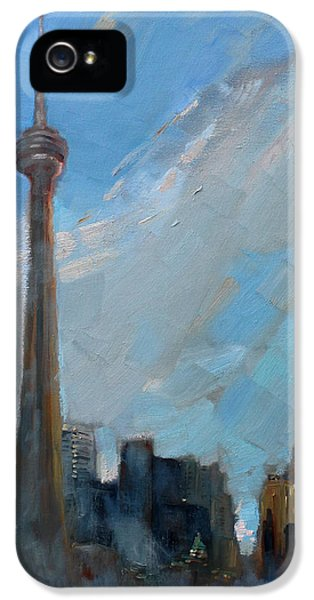 Toronto iPhone 5 Cases - Cn Tower Toronto iPhone 5 Case by Ylli Haruni