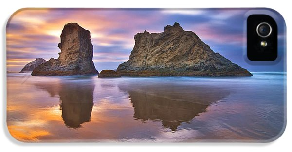 Reflection iPhone 5 Cases - Coastal Cloud Dance iPhone 5 Case by Darren  White