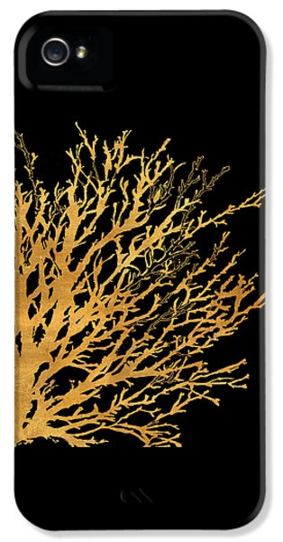 Coastal Coral On Black II IPhone 5 / 5s Case by Lanie Loreth