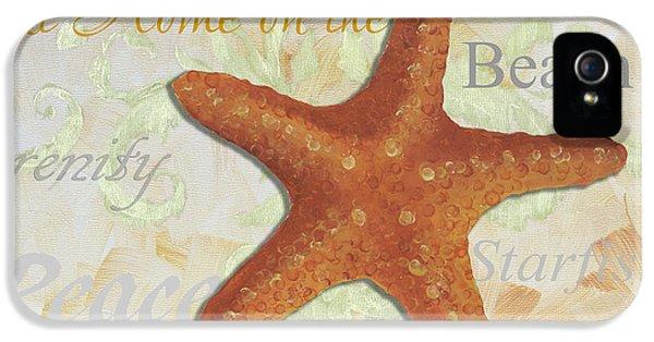 Coastal Decorative Starfish Painting Decorative Art By Megan Duncanson IPhone 5 / 5s Case by Megan Duncanson