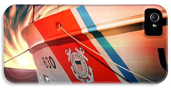 Coast Guard Uscg Alert Wmec-630 IPhone 5 / 5s Case by Aaron Berg