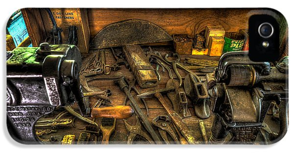 Workbench iPhone 5 Cases - Cobblers Workbench iPhone 5 Case by David Morefield