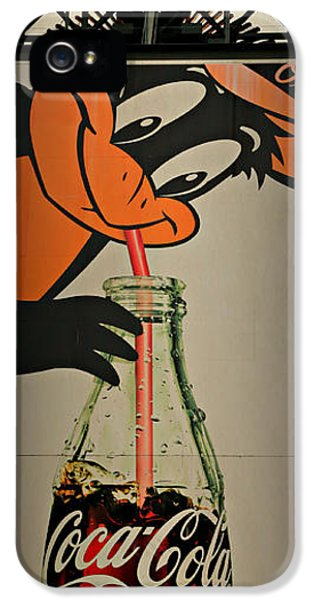Coca Cola Orioles Sign IPhone 5 / 5s Case by Stephen Stookey