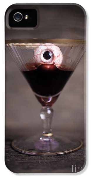 Eyeball iPhone 5 Cases - Cocktail for Dracula iPhone 5 Case by Edward Fielding