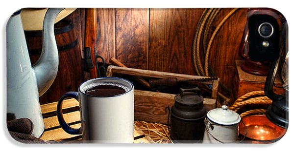Hot Western iPhone 5 Cases - Coffee Break at the Chuck Wagon iPhone 5 Case by Olivier Le Queinec