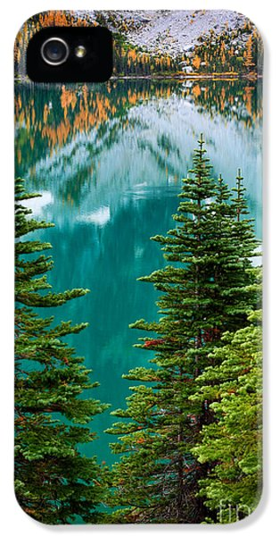 Reflective iPhone 5 Cases - Colchuck Reflection iPhone 5 Case by Inge Johnsson