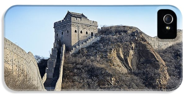 Nl iPhone 5 Cases - Cold day on the Great Wall of China iPhone 5 Case by Brendan Reals