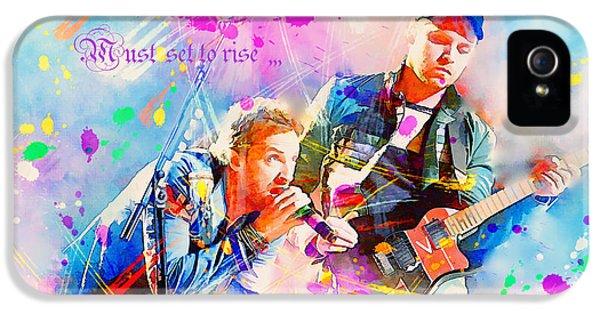 Coldplay Lyrics IPhone 5 / 5s Case by Rosalina Atanasova