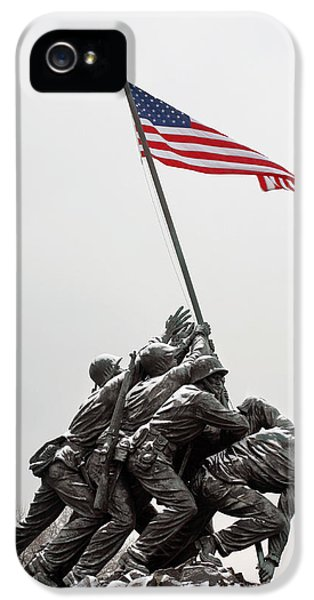 American Flag iPhone 5 Cases - Color on a Grey Day iPhone 5 Case by JC Findley