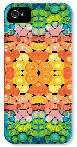 Striking iPhone 5 Cases - Color Revival - Abstract Art By Sharon Cummings iPhone 5 Case by Sharon Cummings