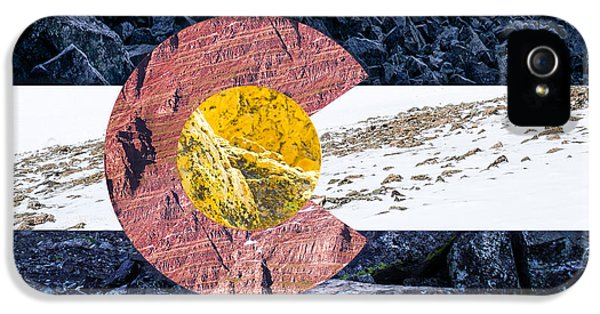 Colorado State Flag With Mountain Textures IPhone 5 / 5s Case by Aaron Spong