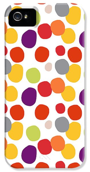 Circles iPhone 5 Cases - Colorful Confetti  iPhone 5 Case by Linda Woods