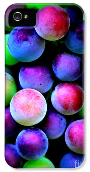 Colorful Grapes - Digital Art IPhone 5 / 5s Case by Carol Groenen