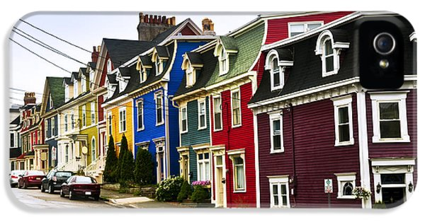 Newfoundland iPhone 5 Cases - Colorful houses in Newfoundland iPhone 5 Case by Elena Elisseeva
