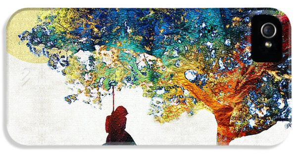 Beliefs iPhone 5 Cases - Colorful Landscape Art - The Dreaming Tree - By Sharon Cummings iPhone 5 Case by Sharon Cummings