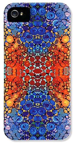 Striking iPhone 5 Cases - Colorful Layers Vertical - Abstract Art By Sharon Cummings iPhone 5 Case by Sharon Cummings