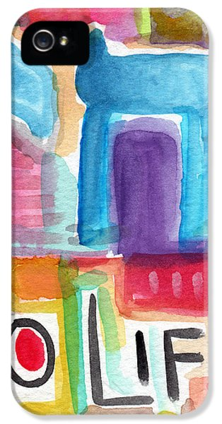 Celebration iPhone 5 Cases - Colorful Life- Abstract Jewish Greeting Card iPhone 5 Case by Linda Woods