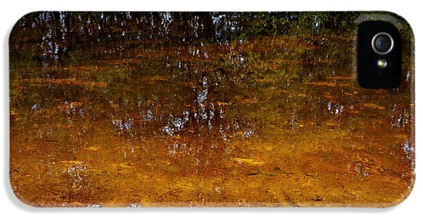 Loam iPhone 5 Cases - Colorful river shore reflections iPhone 5 Case by Intensivelight