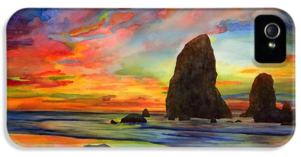 Oregon Coast iPhone 5 Cases - Colorful Solitude iPhone 5 Case by Hailey E Herrera