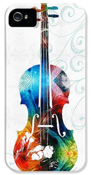 Colorful Violin Art By Sharon Cummings IPhone 5 / 5s Case by Sharon Cummings