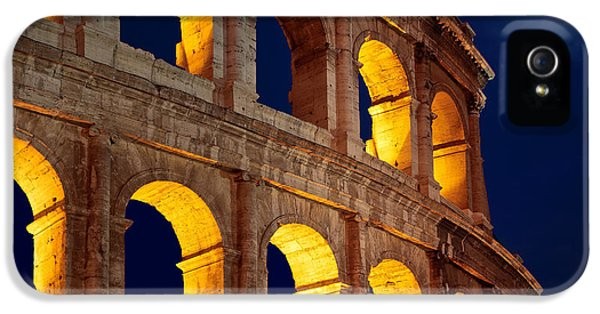 Ruins iPhone 5 Cases - Colosseum and moon iPhone 5 Case by Inge Johnsson