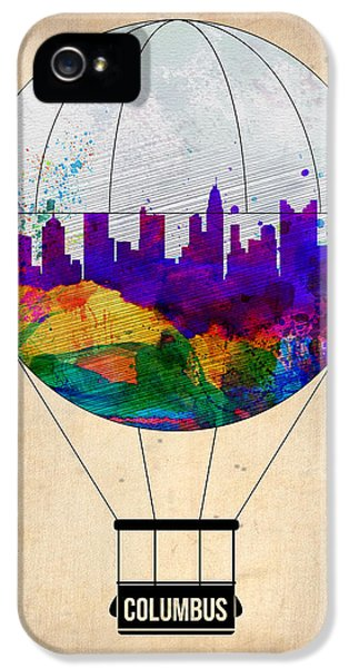 Balloon iPhone 5 Cases - Columbus Air Balloon iPhone 5 Case by Naxart Studio