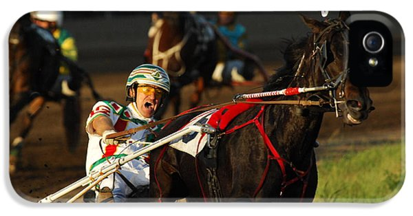 Bob Christopher iPhone 5 Cases - Horse Racing Come On Number 6 iPhone 5 Case by Bob Christopher