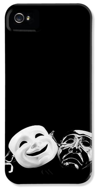 Mask iPhone 5 Cases - Comedy and Tragedy iPhone 5 Case by Jon Neidert