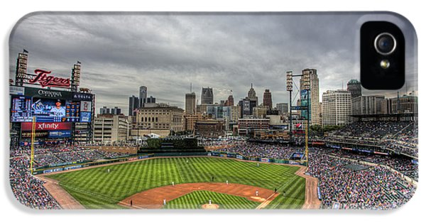 Ballpark iPhone 5 Cases - Comerica Park Home of the Tigers iPhone 5 Case by Shawn Everhart