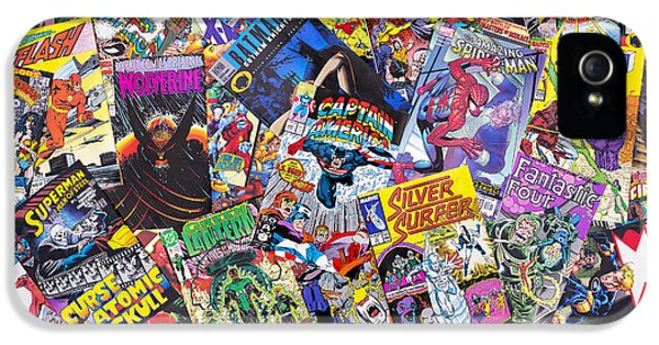 United States Of America iPhone 5 Cases - Comic Book Heros iPhone 5 Case by Tim Gainey