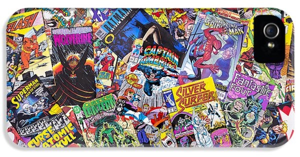 Character iPhone 5 Cases - Comic Book Heros iPhone 5 Case by Tim Gainey