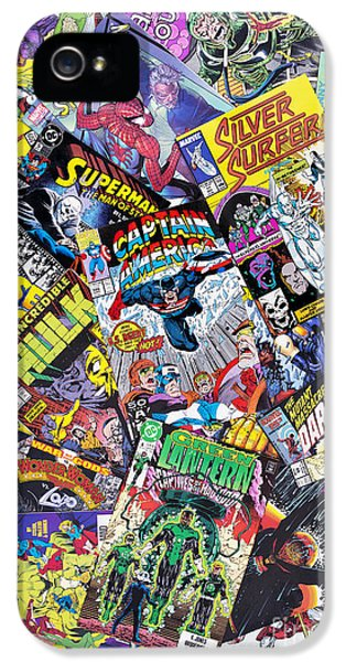 Cartooning iPhone 5 Cases - Comic Heros iPhone 5 Case by Tim Gainey
