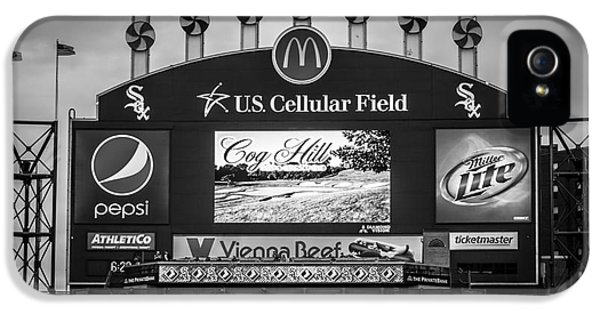 Ballpark iPhone 5 Cases - Comiskey Park U.S. Cellular Field Scoreboard in Chicago iPhone 5 Case by Paul Velgos