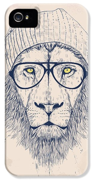 Lion iPhone 5 Cases - Cool lion iPhone 5 Case by Balazs Solti