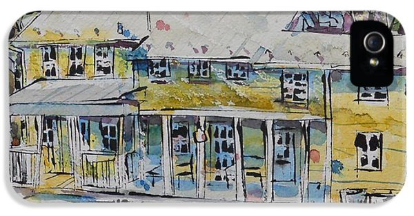 House Md Art iPhone 5 Cases - Cool Springs Farm Farmhouse iPhone 5 Case by Larry Lerew